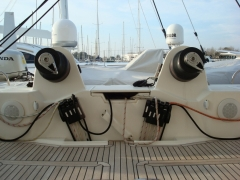 01_catane 65 spinlock XS 1214 winch harken 980 poutre arriere greement dormant