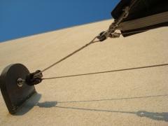 toile dombrage  structures metaliques galvanisation enrouleur drosse fixation projet maison individuelle emerillon loops anneau de friction