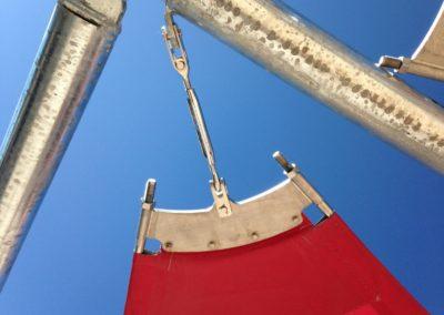 toile dombrage chais du roussillon canet en roussillon voiles rouges structures metaliques galvanisation