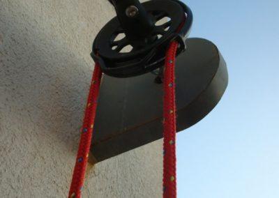 toile dombrage voiles rouges structures metaliques galvanisation enrouleur drosse fixation projet maison individuelle